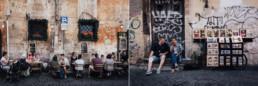 Fotografias de un reportaje de familia en Roma